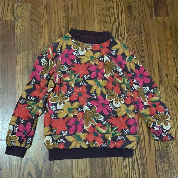 Tops - Vintage floral pull over shirt